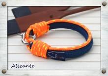 Alicante  SNB-SS-15-406 / Alicante  Sötétkék & Narancssárga & Sárga / Navy blue & Orange & Yellow  Exkluzív, kézzel készített vitorlás karkötők. Exclusive handmade sailor's fashion accessories.
