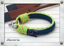 Almería  SNB-SS-15-405 / Almería  Sötétkék & UV Zöld & UV Narancssárga / Navy blue & UV Green & UV Orange  Exkluzív, kézzel készített vitorlás karkötők. Exclusive handmade sailor's fashion accessories.